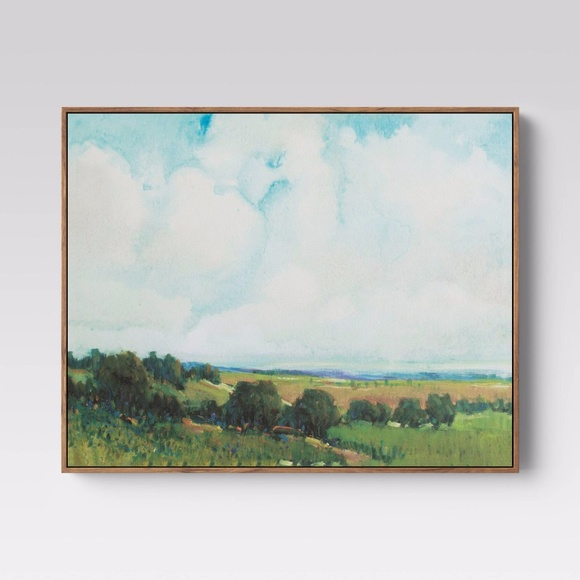 Threshold Looming clouds Framed wall canvas art